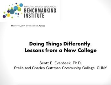 Doing Things Differently: Lessons from a New College